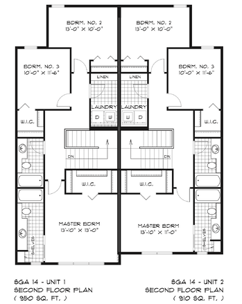 Floor Plan Feature: The Stradford Upper Floor Plan Image