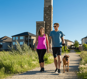 6 Tips to Choosing the Right Winnipeg Home Builder Walking Dog Image